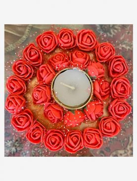 Red Roses Tea Light Holder