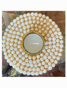 Pearl White Tea Light Holder